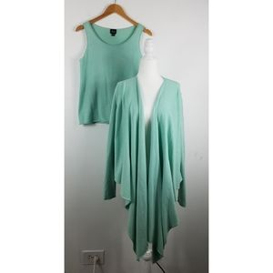 Eileen Fisher Silk Cashmere Tank and Cardigan SET